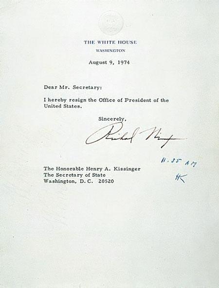 Nixon-Resignation-Letter